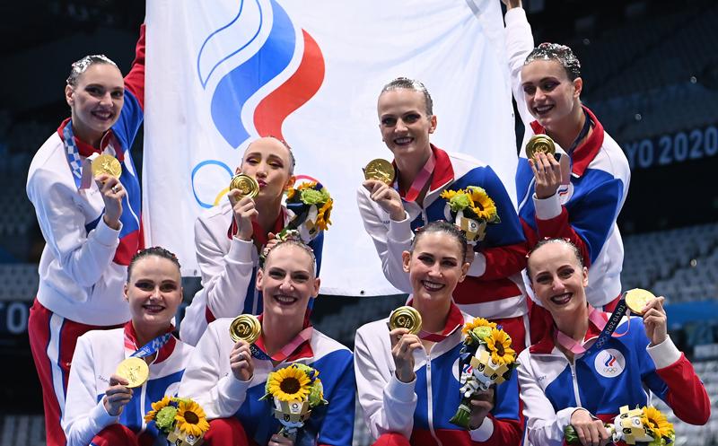 Российские спортсменки, члены сборной России
