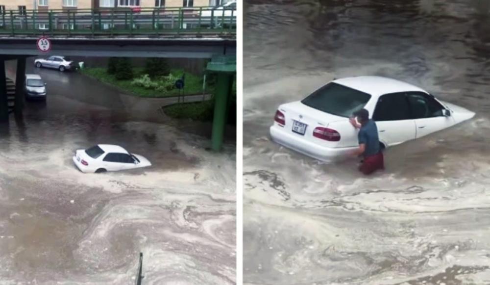Новосибирец утопил свой автомобиль