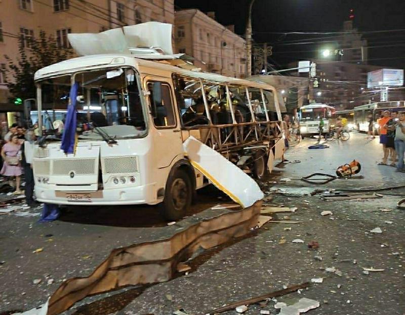 Взрыв в автобуса в Воронеже
