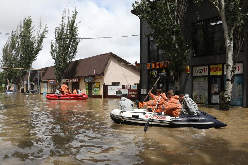 Последствия ливней в Керчи