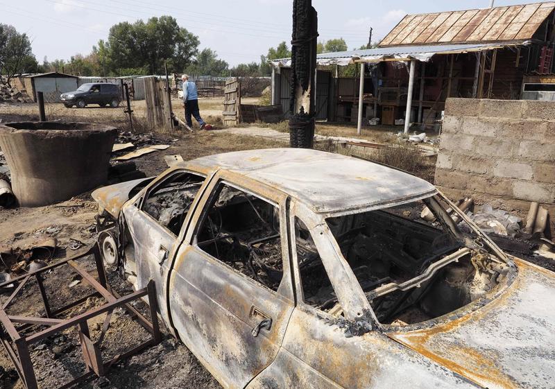 Последствие природного пожара
