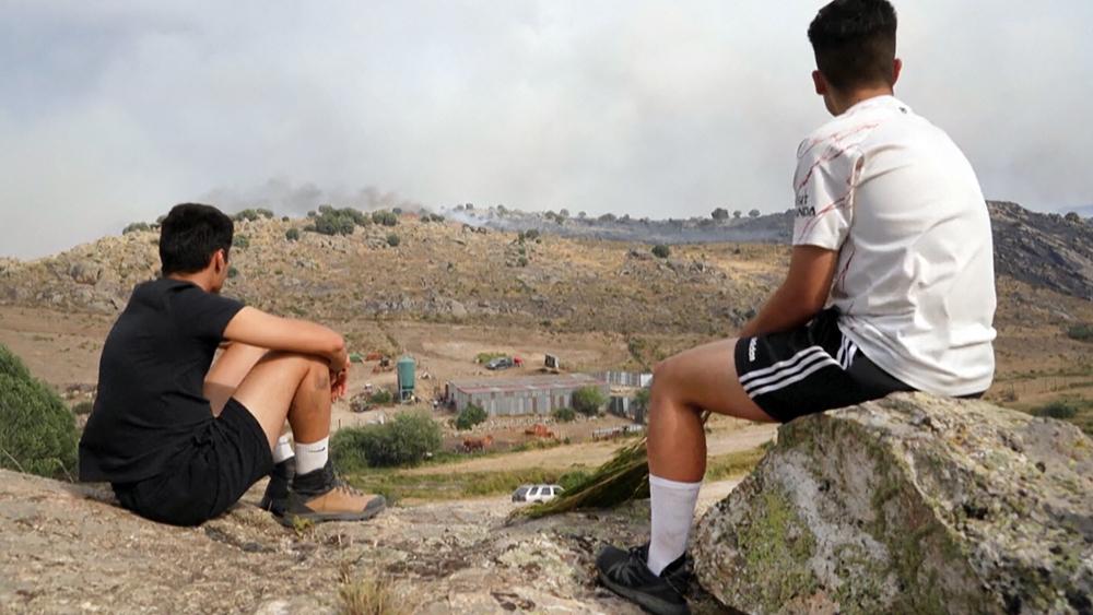 Природные пожары в Испании