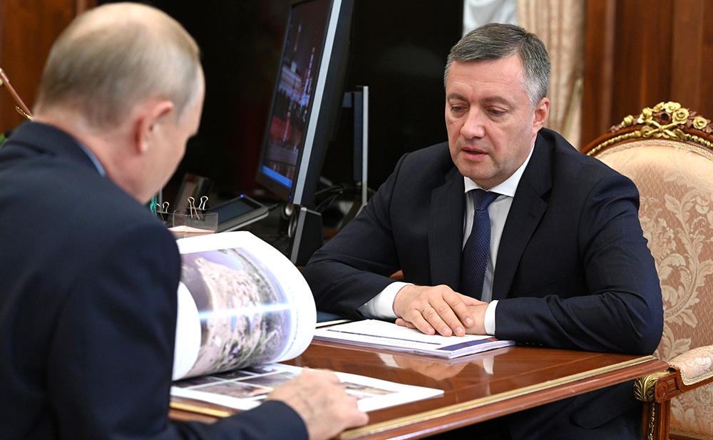 Владимир Путин и Игорь Кобзев