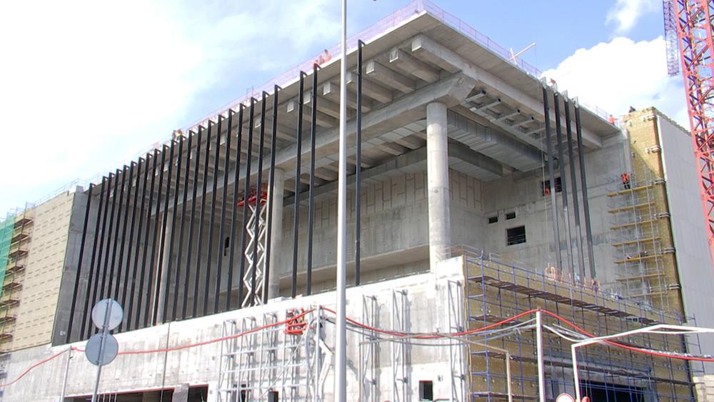 Строительство дворца единоборств в Лужниках