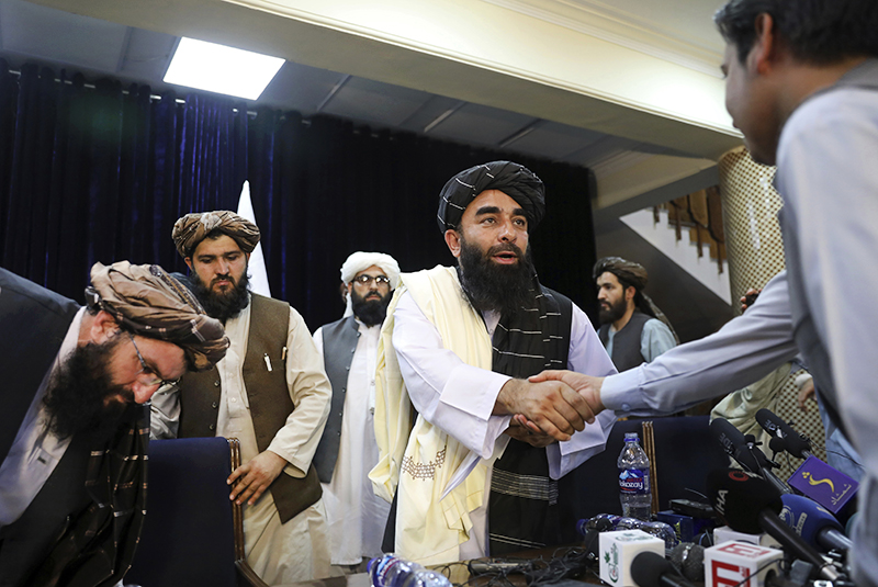 """Пресс-конференция официального представителя радикального движения """"Талибан"""" (запрещено в РФ)"""