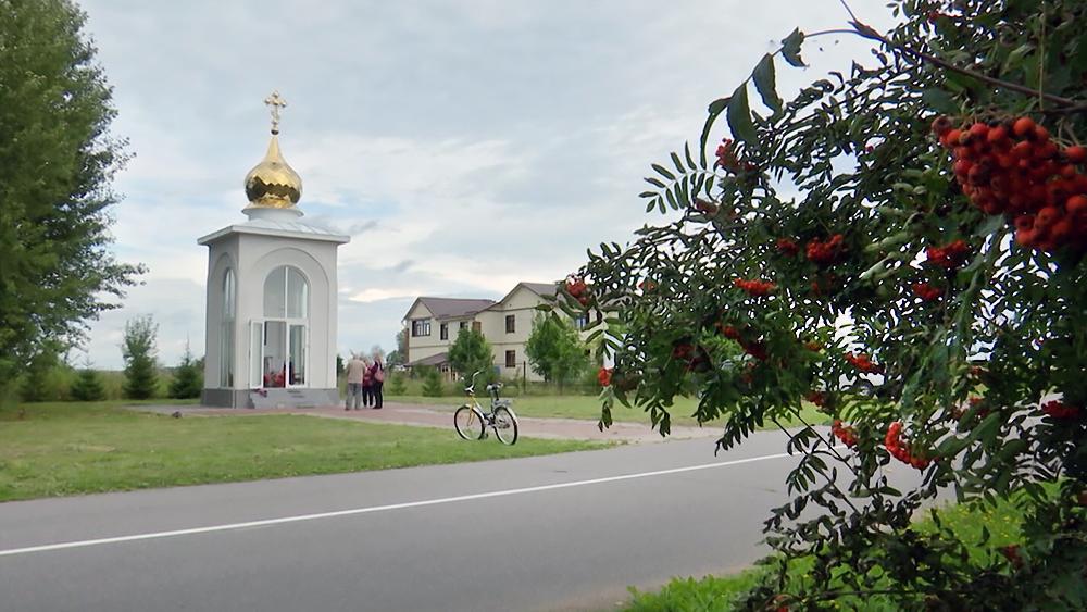Часовня в деревне Большое Заречье (Русская Хатынь)