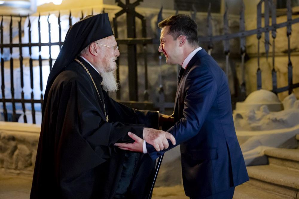 Владимир Зеленский и патриарх Варфоломей