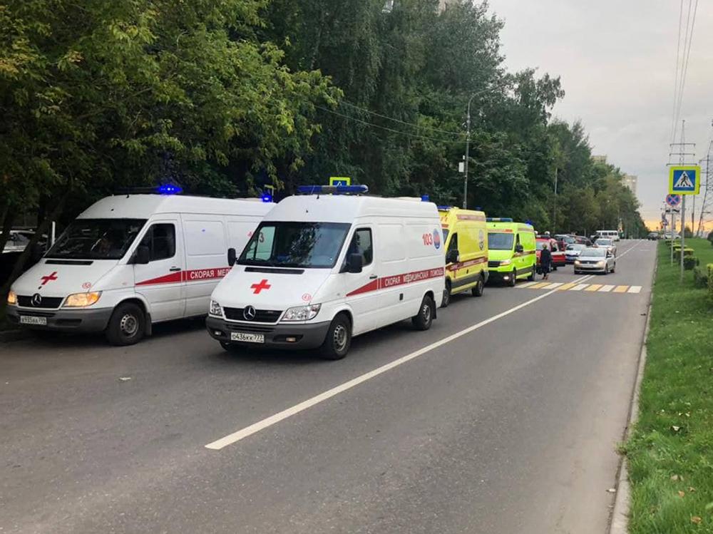 Автомобили скорой помощи на месте происшествия