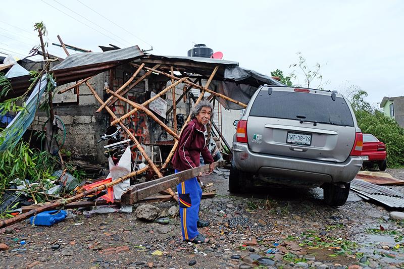 Последствия урагана в Мексике