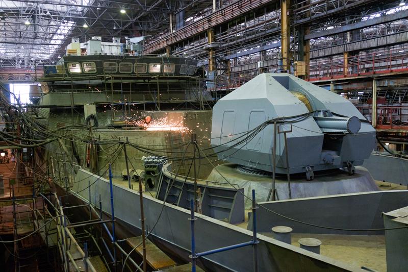 Строительство боевого корабля