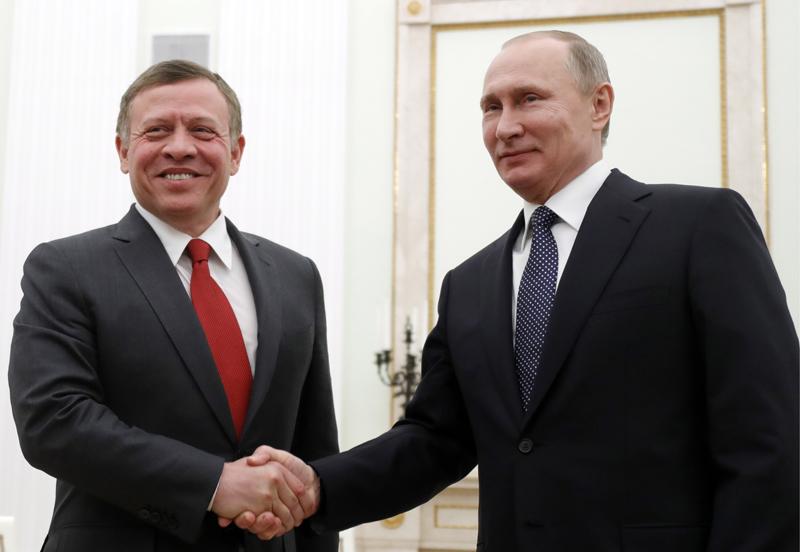 Король Иордании Абдалла II и президент России Владимир Путин