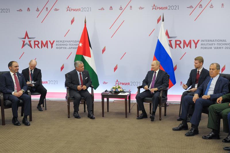 Встреча Владимира Путина с королем Иордании Абдаллой II