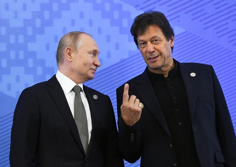 Владимир Путин и премьер-министр Пакистана Имран Хан