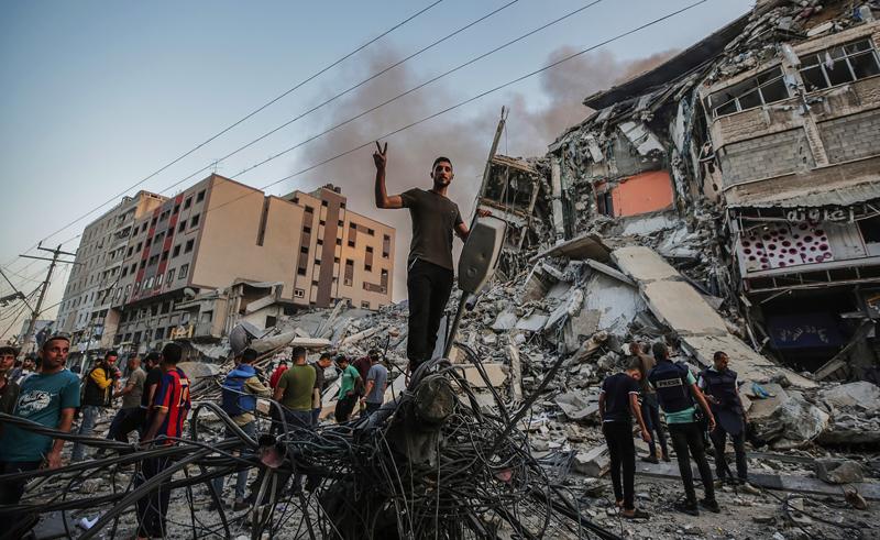 Ракетный удар Израиля по сектору Газа