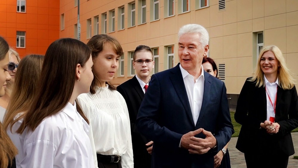 Сергей Собянин общается со школьниками