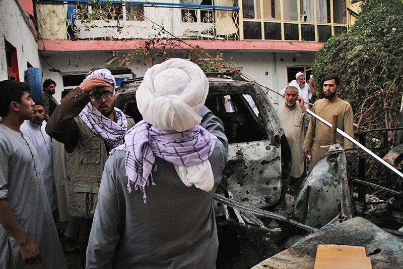 Последствия взрыва в Кабуле