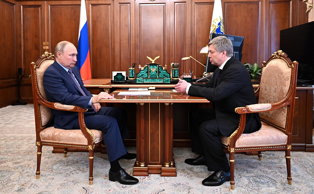 Владимир Путин и Алексей Русских