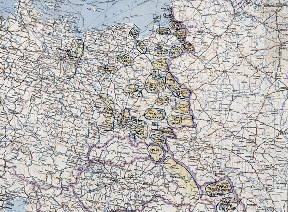 Карта группировки германских войск на 20 июня 1941 г.