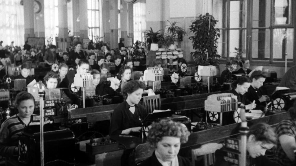 Архивные кадры Центрального телеграфа