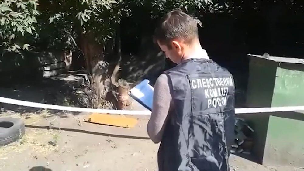 Место убийства школьниц в Кузбассе