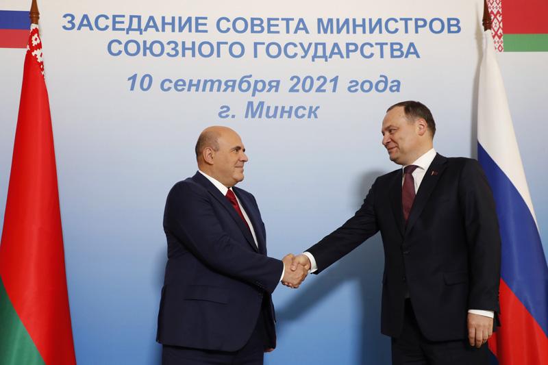 Михаил Мишустин и премьер-министр Белоруссии Роман Головченко