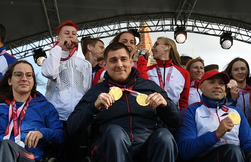Спортсмены паралимпийской сборной России