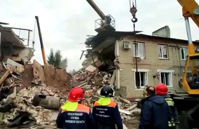Взрыв газа в жилом доме поселка Солидарность