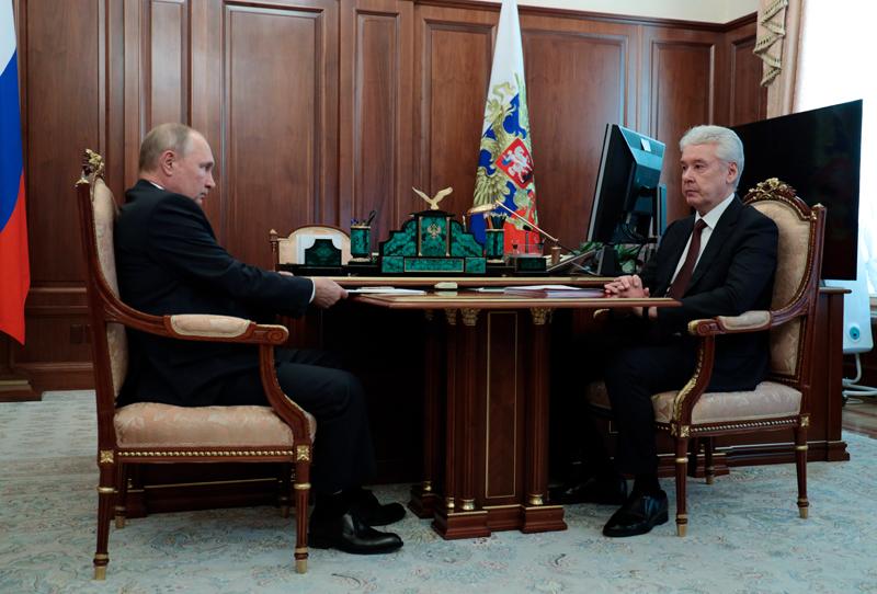 Владимир Путин и мэр Москвы Сергей Собянин