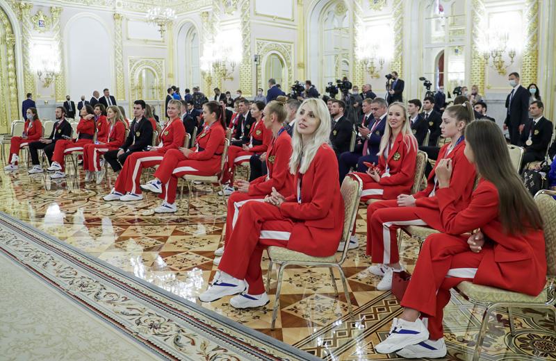 Встреча Владимира Путина с российскими олимпийцами