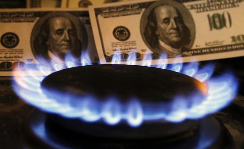 Цена за газ в долларах