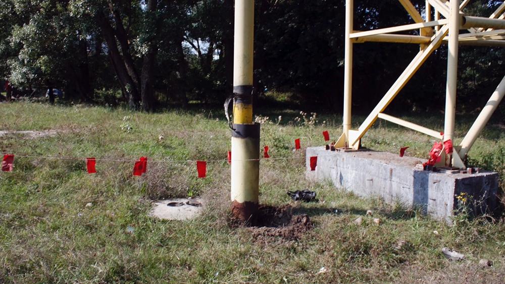Место подрыва газопровода в Крыму