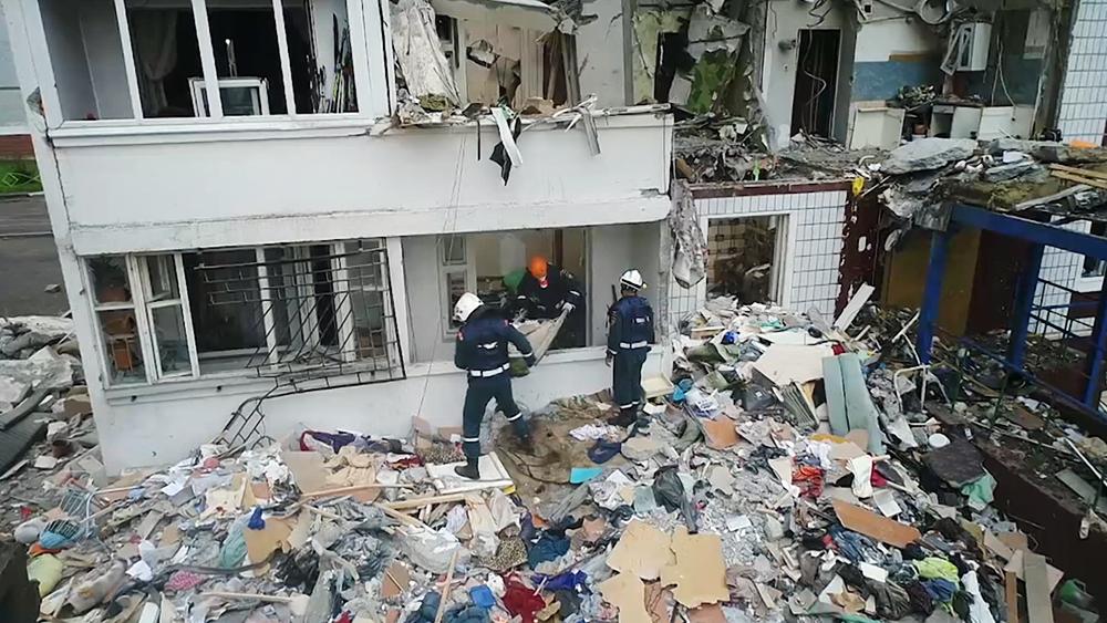 Последствия взрыва  газа в жилом доме в Ногинске