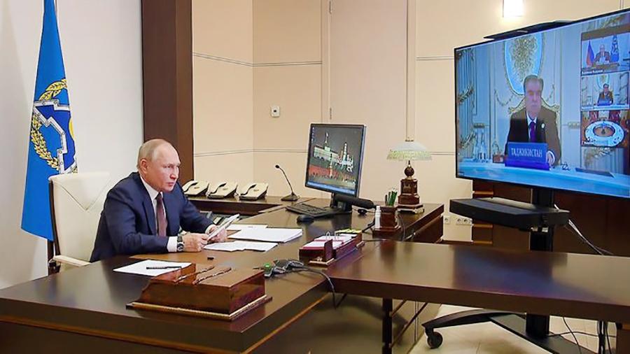 Владимир Путин на заседании Совета коллективной безопасности ОДКБ
