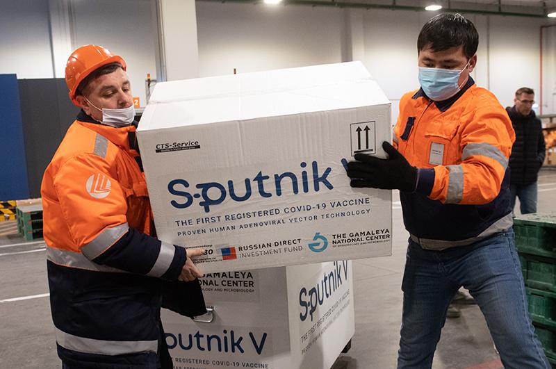 Груз с российской вакциной Sputnik V от коронавируса