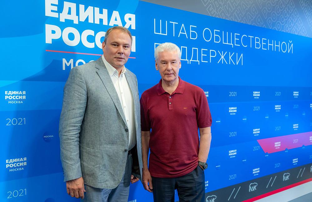 Сергей Собянин и Пётр Толстой
