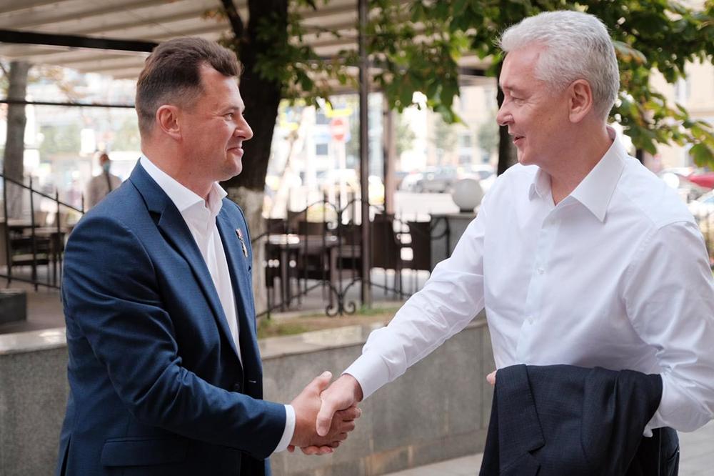 Сергей Собянин и Роман Романенко