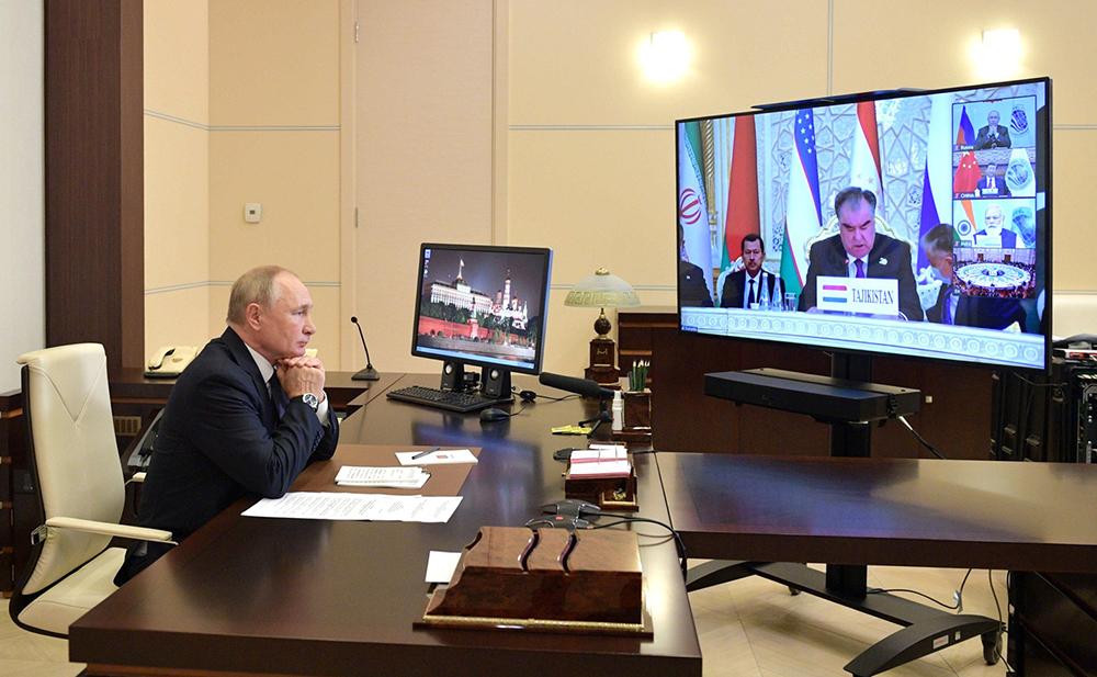 Владимир Путин на заседании Совета глав государств – членов ШОС