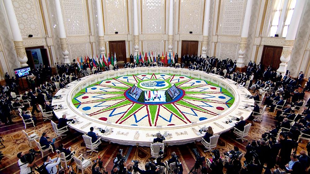 Заседание Совета глав государств – членов ШОС