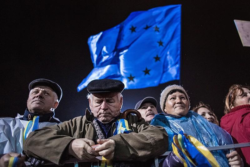 Сторонники евроинтеграции Украины