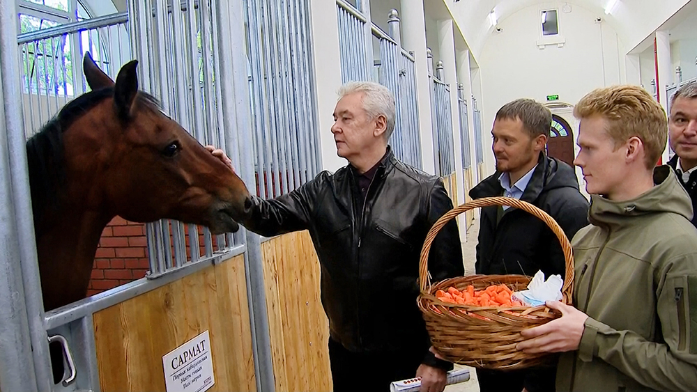 Сергей Собянин посетил конюшню