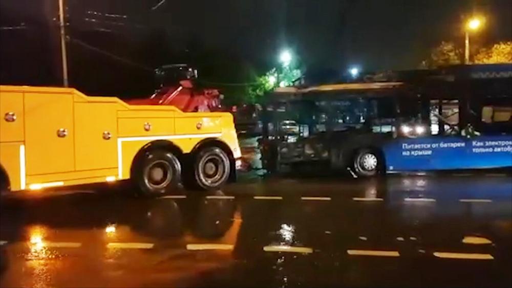 Пожар в электробусе