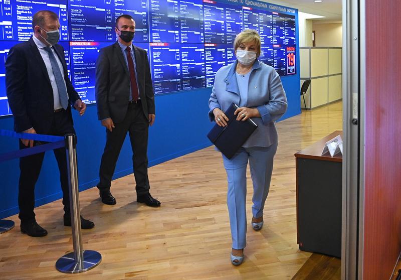 Элла Памфилова в Центральной избирательной комиссии России