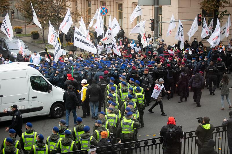 Митинги у Верховной рады в Киеве