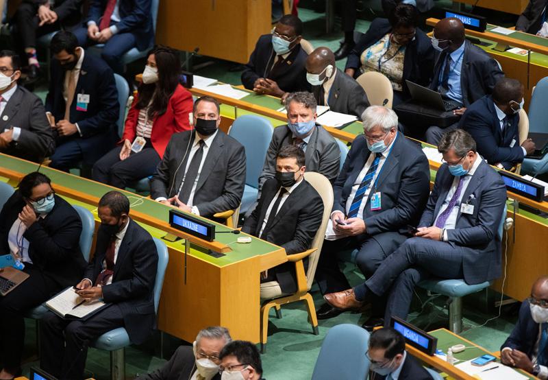Владимир Зеленский на 76-ой сессии Генеральной Ассамблеи ООН в Нью-Йорке