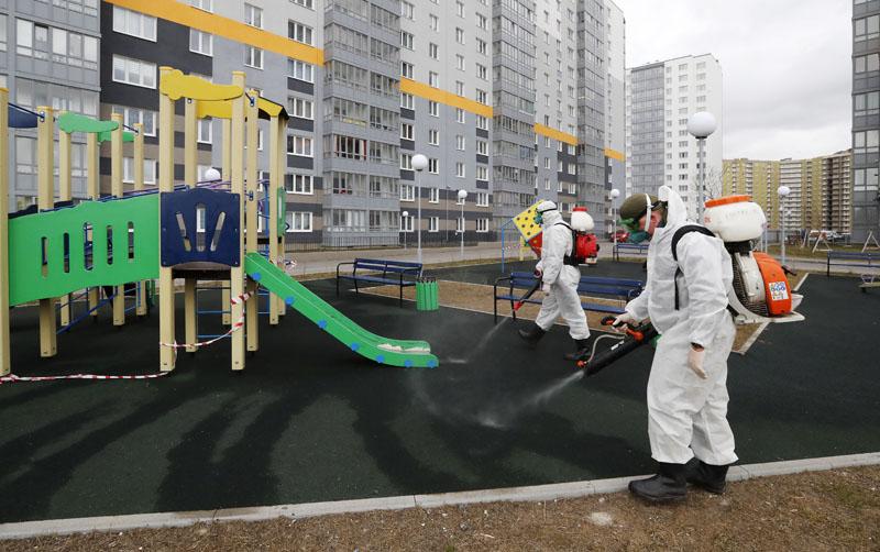 Дезинфекционная обработка детской площадки