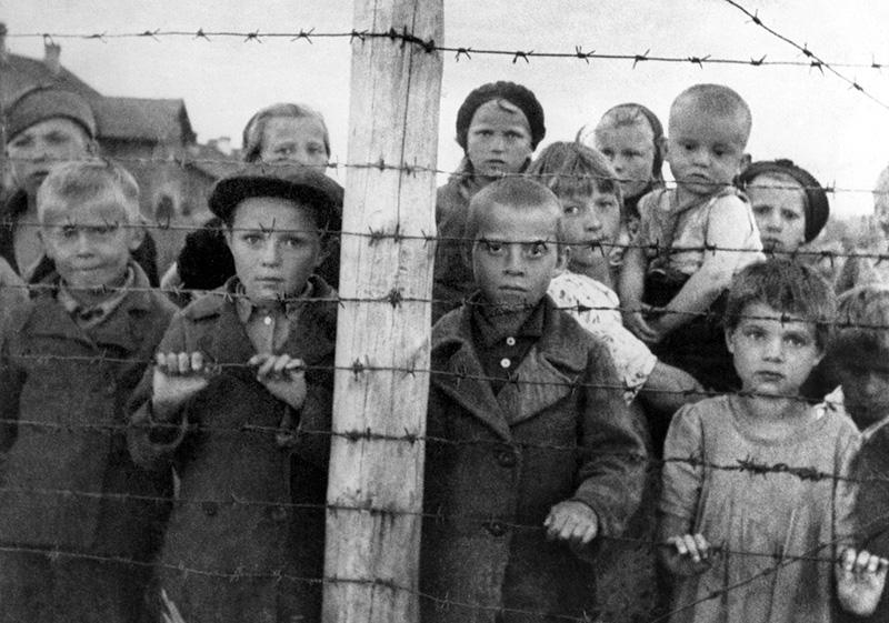 Дети-узники фашистского концлагеря