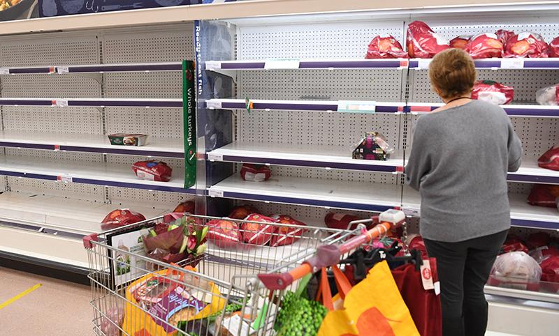 Дефицт продуктов в Великобритании