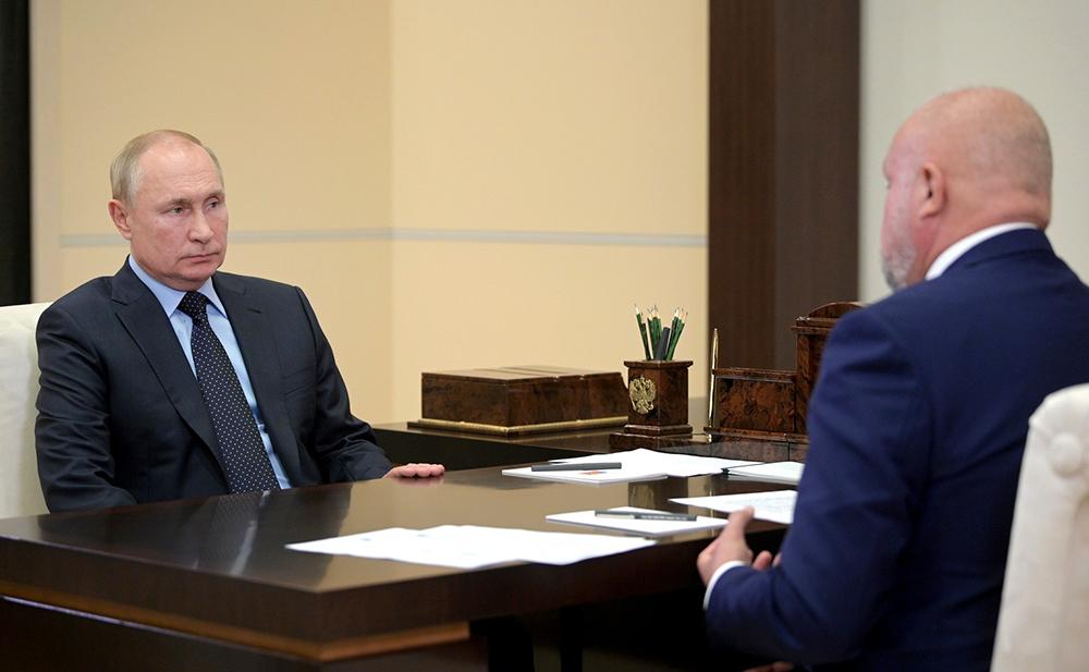 Владимир Путин и Сергей Цивилёв