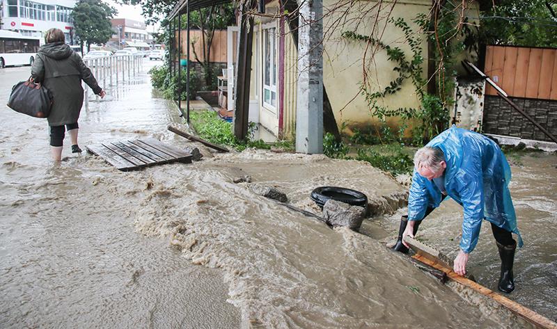 Последствия дождей в Сочи