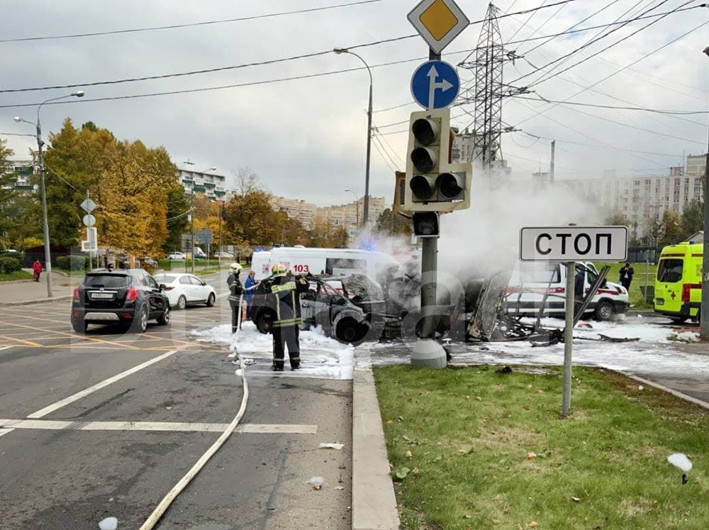 Последствие сильного ДТП в Зеленограде